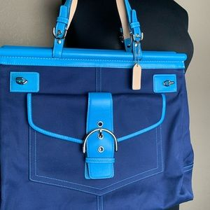 Coach satchel gently used blue